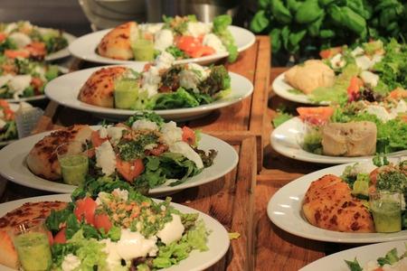 43447792 - salad bar in a self service restaurant