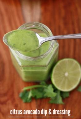 avocado citrus dip